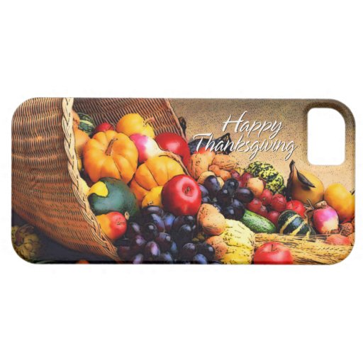 Caja feliz de la mota de la acción de gracias 12 iPhone 5 protector