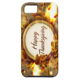Caja feliz de la mota de la acción de gracias iPhone 5 Case-Mate protectores