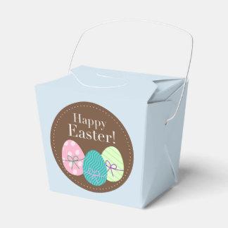 Caja feliz del favor de fiesta de Pascua con los