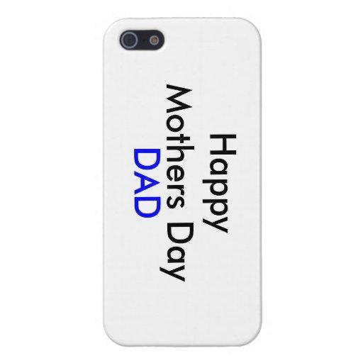 Caja feliz del teléfono del papá del día de madres iPhone 5 carcasas