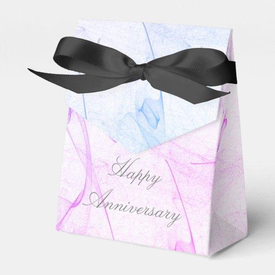 Caja feliz hermosa del aniversario
