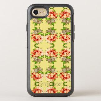 Caja femenina amarilla romántica floral del funda OtterBox symmetry para iPhone 7