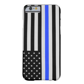 Caja fina del teléfono de la bandera de Blue Line Funda Barely There iPhone 6