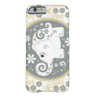 Caja floral amarilla gris del iPhone 6 del