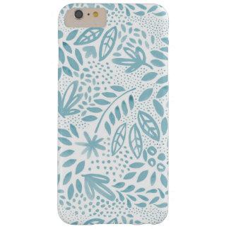 Caja floral azul del teléfono de la belleza funda barely there iPhone 6 plus