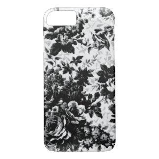 Caja floral blanco y negro funda iPhone 7