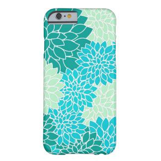 Caja floral bohemia del iPhone 6 del verde azul de Funda Barely There iPhone 6