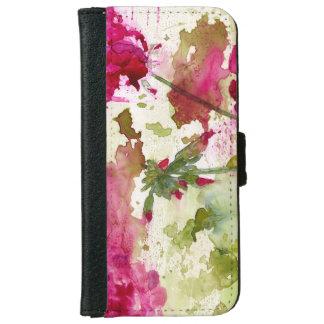 caja floral de la cartera del iphone 6/6s