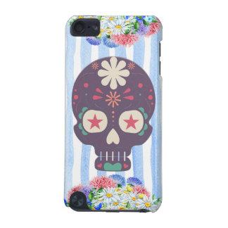 Caja floral del cráneo del azúcar funda para iPod touch 5G