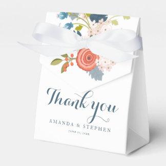Caja floral del favor del boda del jardín salvaje