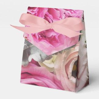 Caja floral del favor del Peony