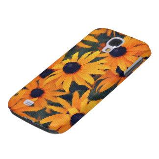 Caja floral del teléfono del arte de las margarita