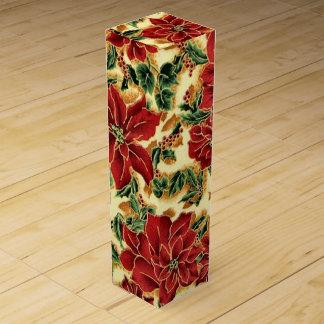 Caja floral del vino del día de fiesta del navidad