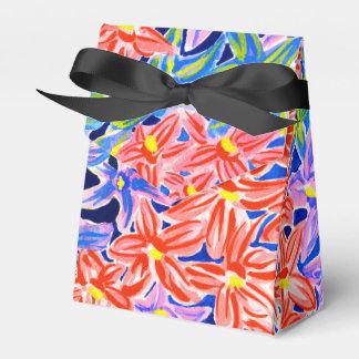 Caja floral elegante elegante del favor/de regalo