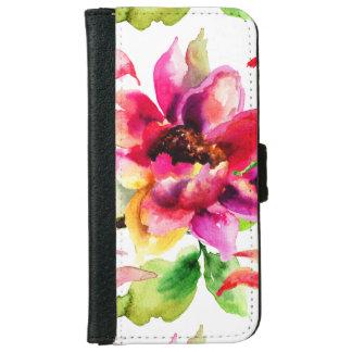 Caja floral femenina de la cartera del iPhone 6