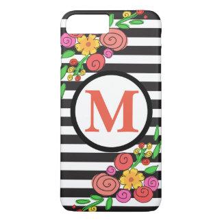 caja floral moderna del teléfono celular de la funda iPhone 7 plus