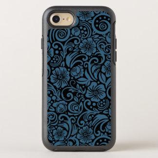 Caja floral oscura del iPhone del azul de acero Funda OtterBox Symmetry Para iPhone 7