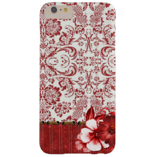 Caja floral roja elegante del iPhone/del iPad Funda Barely There iPhone 6 Plus