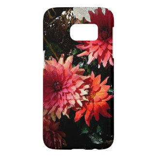 Caja floral rosada bonita del teléfono de la funda samsung galaxy s7