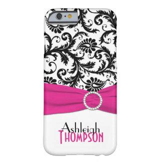 Caja floral rosada, negra, blanca del iPhone 6 del Funda De iPhone 6 Barely There