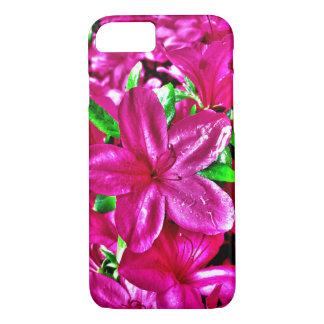 Caja floral rosada púrpura del iPhone 7 Funda iPhone 7