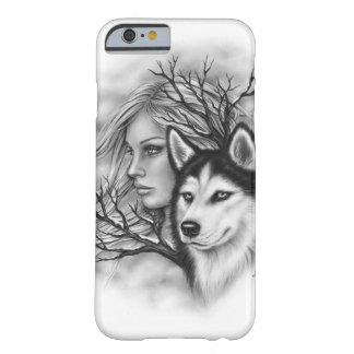 Caja fornida del teléfono del chica del lobo de funda barely there iPhone 6