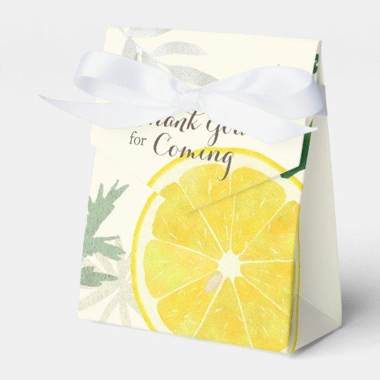 Caja fresca del favor del limón
