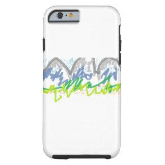Caja gloriosa del teléfono de las montañas funda resistente iPhone 6
