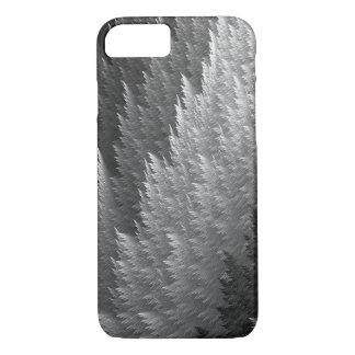 Caja gris del modelo de la pluma del tartán del funda iPhone 7