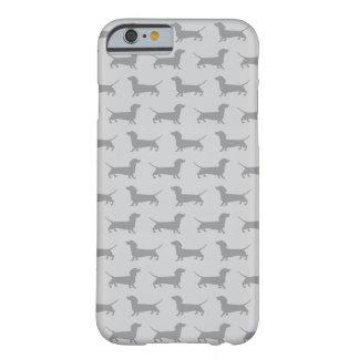 Caja gris linda del iPhone 6 del modelo del perro Funda Para iPhone 6 Barely There