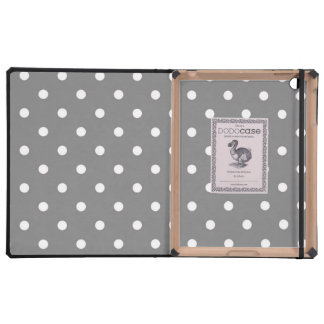 Caja gris y blanca del DODO del lunar iPad Fundas