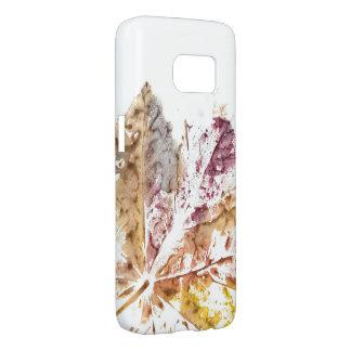 Caja Hülle del teléfono de la impresión de la hoja Funda Samsung Galaxy S7