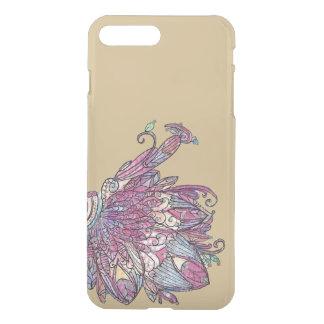 Caja infrecuente del oro ideal de la flor funda para iPhone 7 plus