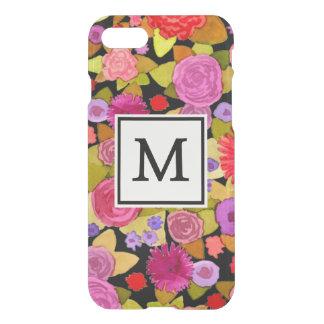 Caja infrecuente negra floral del iPhone 7 del Funda Para iPhone 7