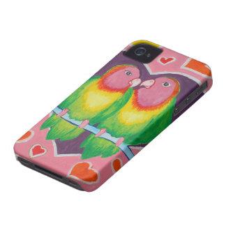 Caja intrépida de Blackberry de los pájaros del am Case-Mate iPhone 4 Cárcasas