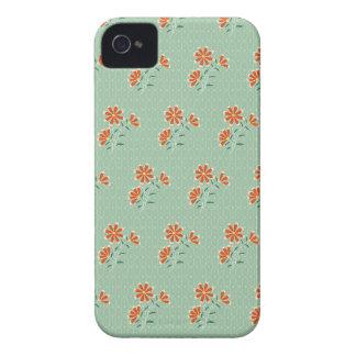 Caja intrépida de Blackberry del batik floral de N iPhone 4 Case-Mate Cárcasas