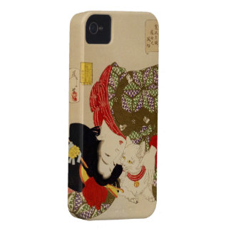 Caja japonesa de la estera del iPhone del vintage Funda Para iPhone 4 De Case-Mate