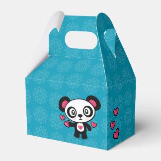 Caja linda del favor de la panda