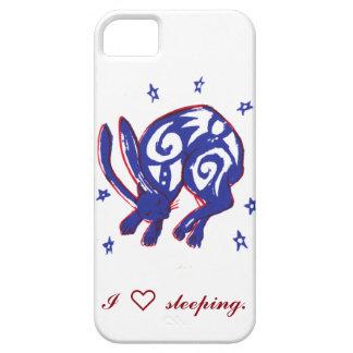 Caja linda del teléfono del conejito el dormir funda para iPhone SE/5/5s