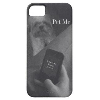 Caja linda del teléfono del perro iPhone 5 carcasas