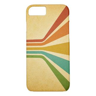 Caja maravillosa de las rayas del vintage funda iPhone 7