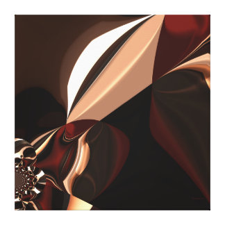 Caja marrón del chocolate del arte abstracto de la