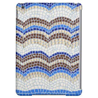 Caja mate del aire del iPad del mosaico azul