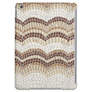 Caja mate del aire del iPad del mosaico beige
