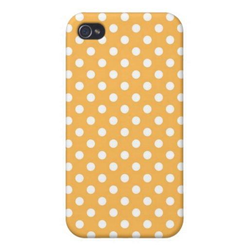 Caja media amarilla de Iphone 4 del lunar de la ce iPhone 4 Coberturas