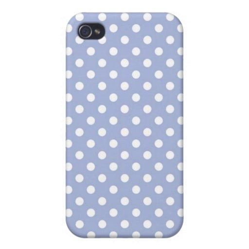 Caja media azul de Iphone 4 del lunar de la lavand iPhone 4 Protectores
