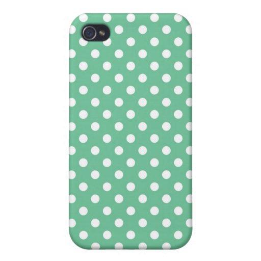 Caja media verde de Iphone 4 del lunar de Peapod iPhone 4 Coberturas