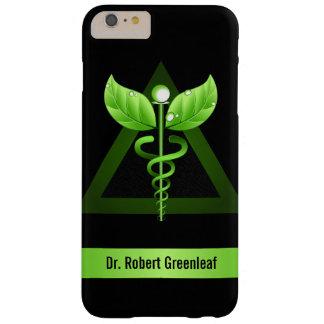Caja médica verde de la medicina alternativa del funda para iPhone 6 plus barely there