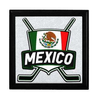Caja mexicana de la teja de la bandera del hockey