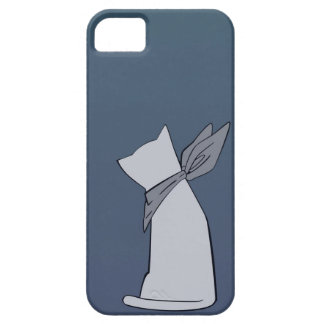 Caja minimalista azul del iPhone 5 del gato iPhone 5 Case-Mate Carcasa